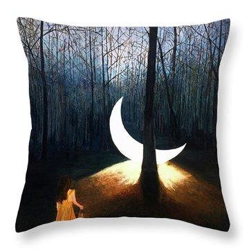 L'il Luna Throw Pillow