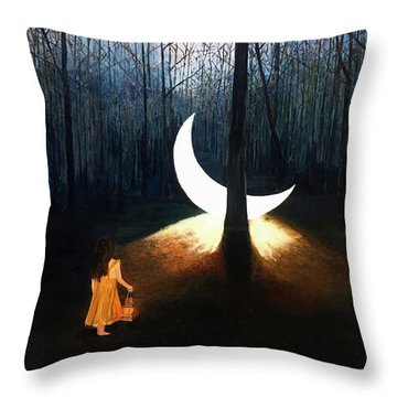 L'il Luna Throw Pillow