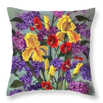 Lilac Days Throw Pillow