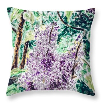Lilac Dreams Throw Pillow
