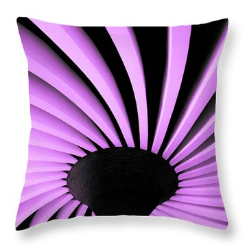 Lilac Fan Ceiling Throw Pillow
