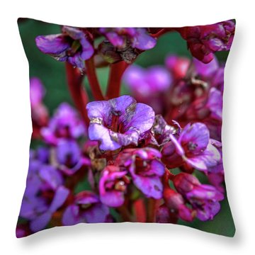 Lilac #h9 Throw Pillow