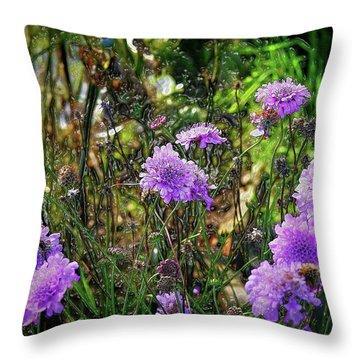 Lilac Jelly Pincushion Throw Pillow