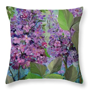 Lilac Love Throw Pillow