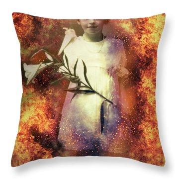 Lilies Of The Apocalypse Throw Pillow