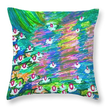 Lilies Of The Pond Throw Pillow