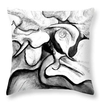 Lilies Original Drawing Throw Pillow
