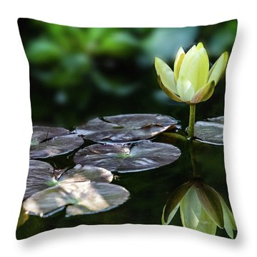 Lily In The Pond Throw Pillow
