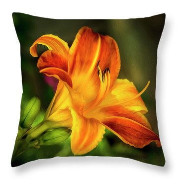 Lily Of The Day Throw Pillow