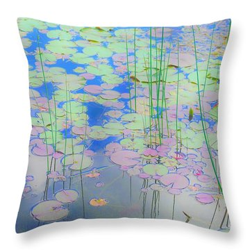 Lily Pads1 Throw Pillow