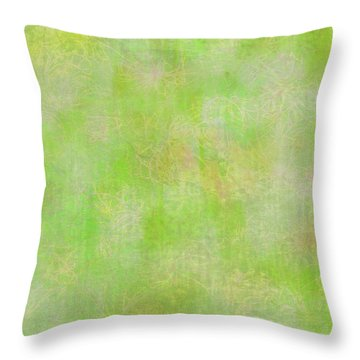 Lime Batik Print Throw Pillow