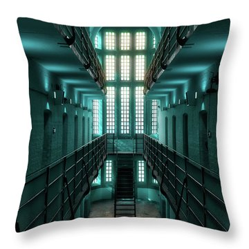 Lincoln Castle Prison In Blue Throw Pillow