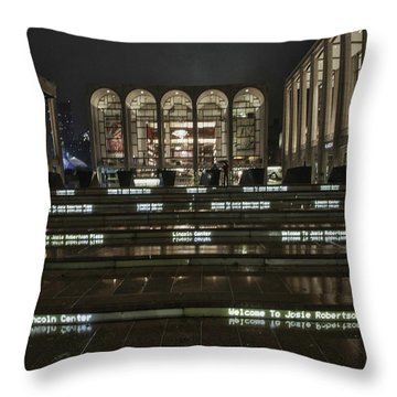 Lincoln Center For The Performing Arts Throw Pillow