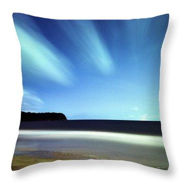 Linear Clouds Over Mayaro Throw Pillow
