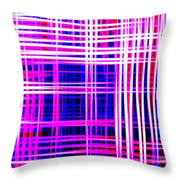 lines and squares in purple Color Waves - PL414 Throw Pillow