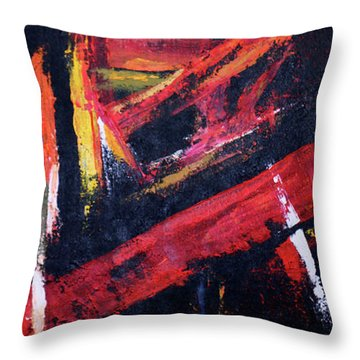 Lines Of Fire Throw Pillow