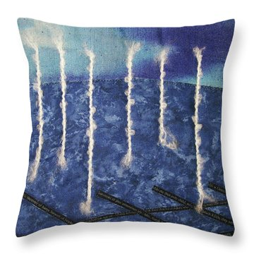 Lines Of Text Throw Pillow