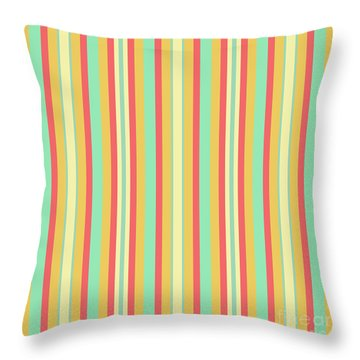 Lines Or Stripes Vintage Or Retro Color Background - Dde589 Throw Pillow