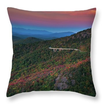 Linn Cove Pink And Blue Throw Pillow