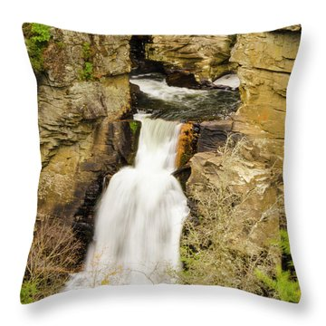 Linville Falls - Closeup Throw Pillow