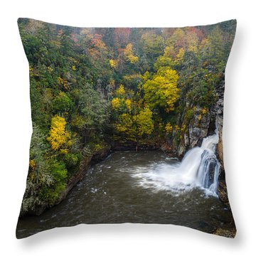 Linville Falls - Linville Gorge Throw Pillow