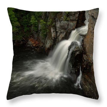 Linville Falls - Linville Gorge North Carolina Throw Pillow