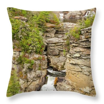 Linville Falls - Vertical Throw Pillow