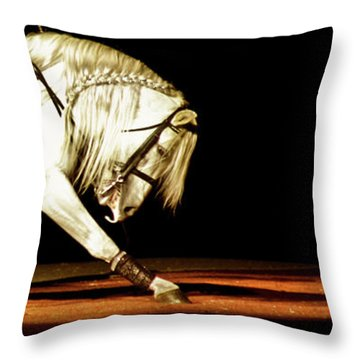Throw Pillow featuring the photograph Lipizzan by Catherine Sobredo