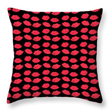 Throw Pillow featuring the digital art Lips by Bee-Bee Deigner