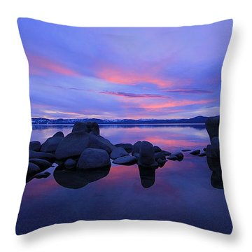 Throw Pillow featuring the photograph Liquid Serenity  by Sean Sarsfield