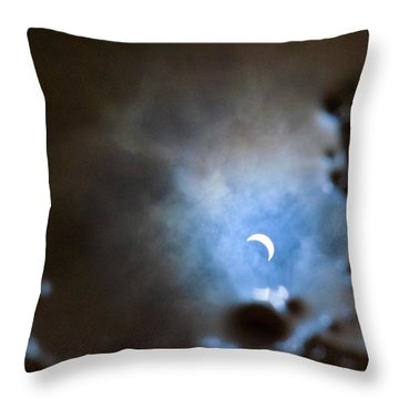 Liquified Solar Eclipse Throw Pillow