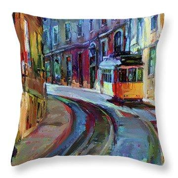 Lisbon Tram 6 Throw Pillow
