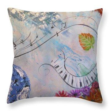 Listen To The Earth Song Throw Pillow