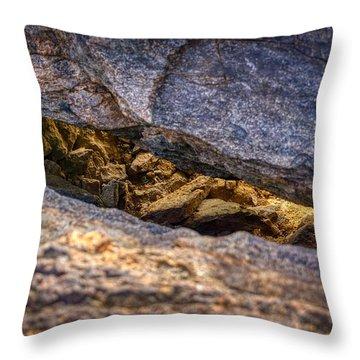 Lit Rock Throw Pillow