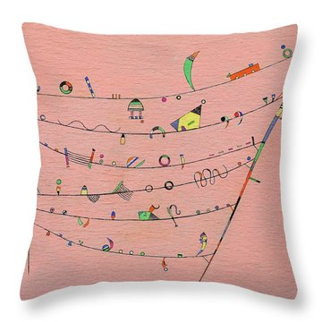 Little Accents, 1940 Throw Pillow