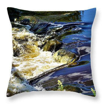 Little Bitty Waterfall Throw Pillow