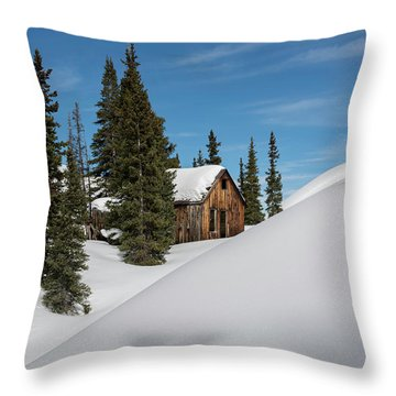 Little Cabin Throw Pillow