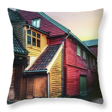 Little Dash Of Bergen Throw Pillow