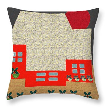 Little House Painting 4 Throw Pillow