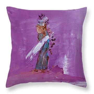 Little Indian Angel Throw Pillow