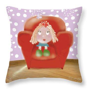 Little Ms Throw Pillow