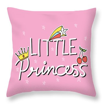 Little Princess - Baby Room Nursery Art Poster Print Throw Pillow