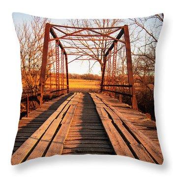 Little River Bridge Throw Pillow
