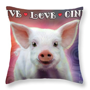 Live Love Oink Throw Pillow