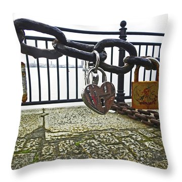 Liverpool. The Albert Dock. Eternal Love. Throw Pillow