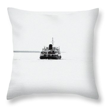 Liverpool. The Mersey Ferry 'royal Iris' Throw Pillow