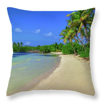 Living On An Island Throw Pillow