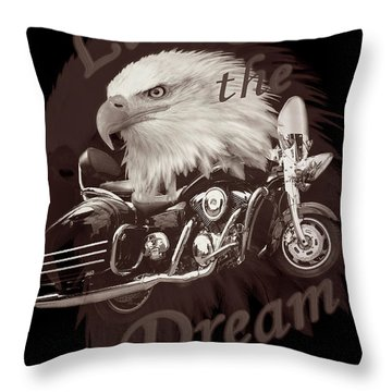Living The Dream In Vintage Tones Throw Pillow