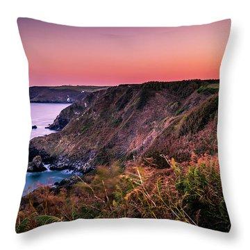 Lizard Point Sunset - Cornwall Throw Pillow