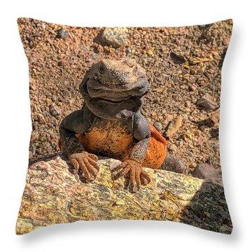 Lizard Portrait  Throw Pillow